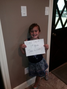 Sweet B on her last day of first grade!